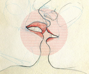kiss, art, and drawing image