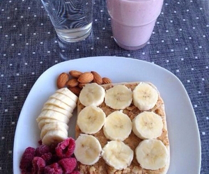 food, breakfast, and banana image