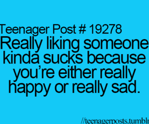 sad, teenager post, and happy image