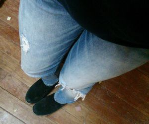 boots, cropped jeans, and long legs image