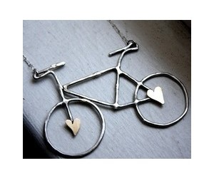 bicycle, hearts, and jewelry image