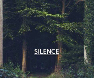 green, words, and silence image