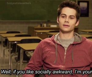 teen wolf, awkward, and stiles image