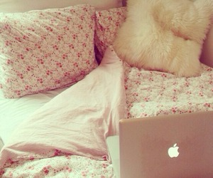 pink, girly, and bed image