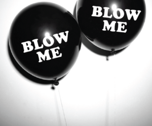 balloons, black and white, and dreams image