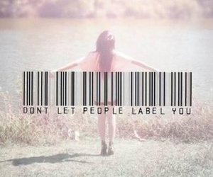 quote, label, and people image