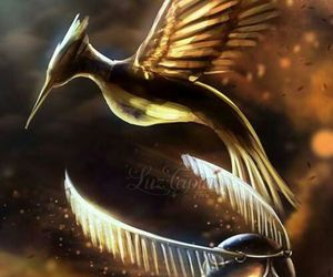 harry potter, hunger games, and mockingjay image