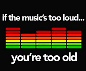 music, loud, and old image