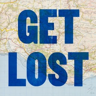 map, blue, and lost image