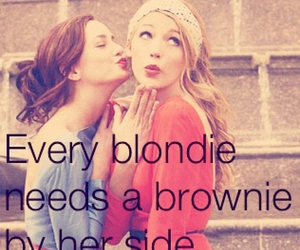 blond, brown, and girl image