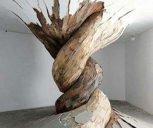 art, tree, and wood image