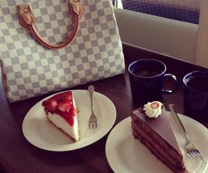 cake, cheesecake, and coffee image