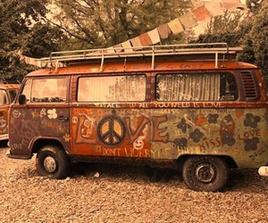 peace, hippie, and vans image