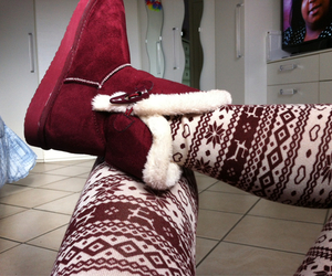 red, ugg, and winter image