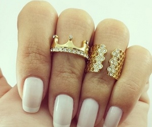 nails, ring, and style image