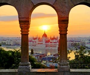 city, budapest, and beautiful image