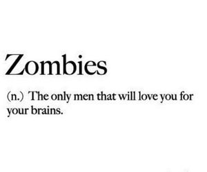 always, black and white, and zombies image