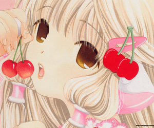 chobits, anime, and cherry image
