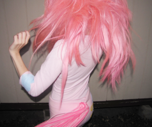 hair, pink hair, and pink image