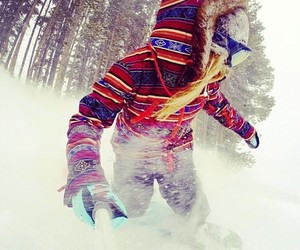 nice, snow, and snowboard image