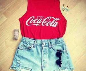 fashion, coca cola, and outfit image