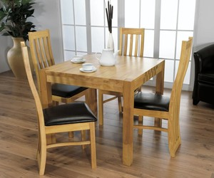 dining room, unique design, and wooden furniture image