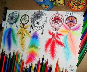 Dream, drawing, and colors image