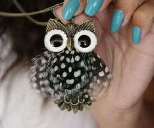 fashion, nails, and owl image