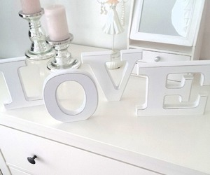 love and white image