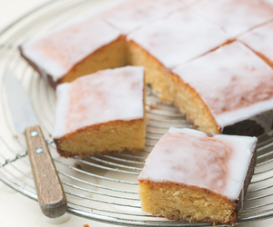 cake, lemon, and white chocolate image