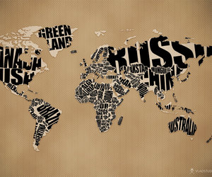 map, world, and typography image