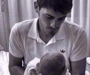 iker casillas, baby, and real madrid image