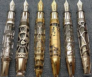 pen, steampunk, and fountain pen image