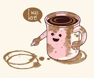 coffee, funny, and cup image