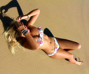beach, beauty, and laying down image
