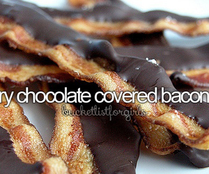chocolate and chocolate covered bacon image