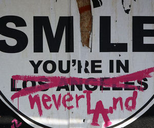 smile, neverland, and text image