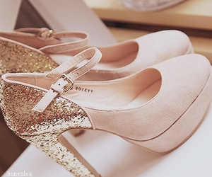 glitter, pink, and shoes image