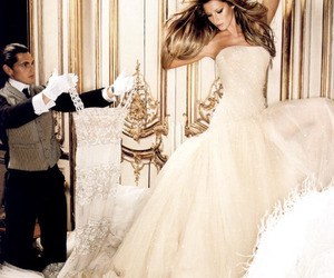 dress, model, and Gisele Bundchen image
