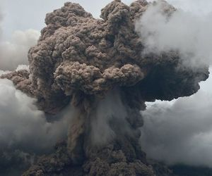 explosion and nature image