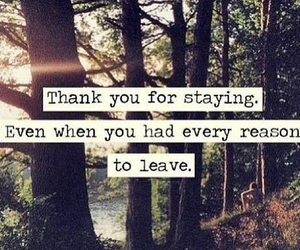 quote, thank you, and staying image