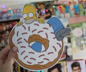 donuts, tumblr, and simpsons image