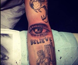 justin bieber, tattoo, and believe image