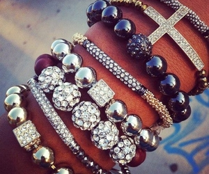 bracelet, accessories, and cross image