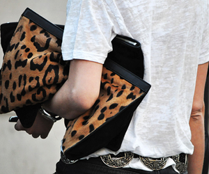 fashion, leopard, and bag image