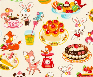 animals, cake, and background image