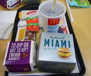 food, hamburger, and mc donalds image