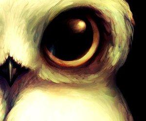art, owl, and animal image