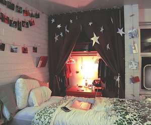 room, bedroom, and stars image