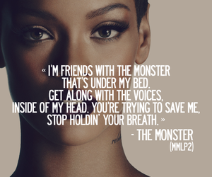 rihanna, eminem, and monster image